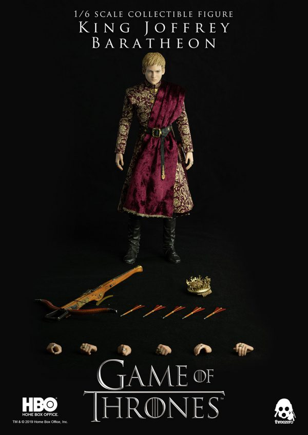 《冰與火之歌:權力遊戲》Game of Thrones 喬佛里.拜拉席恩國王( King Joffrey Baratheon)(標準版) – ThreeZero Online Store