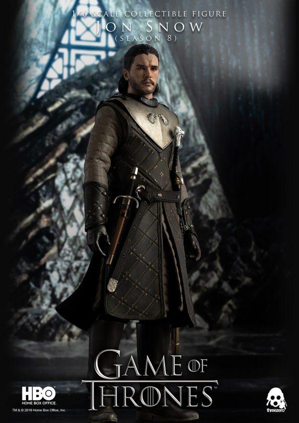 《冰與火之歌:權力遊戲》Game of Thrones 瓊恩·雪諾 (Jon Snow) (第8季) – ThreeZero Online Store